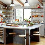 многофункциональный остров в просторной кухне
