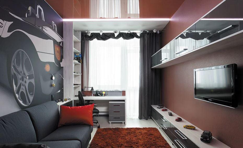 Дизайн комнаты в стиле хай тек для подростка