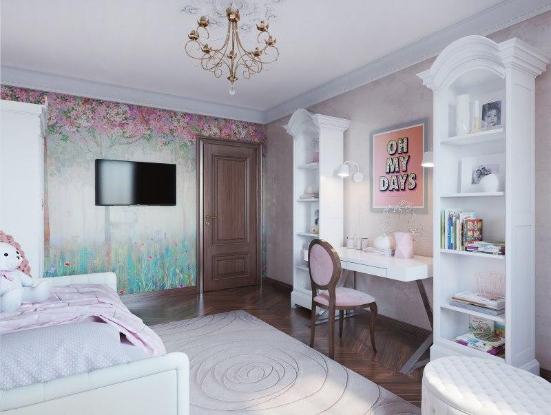 Детская комната для современной девочки подростка