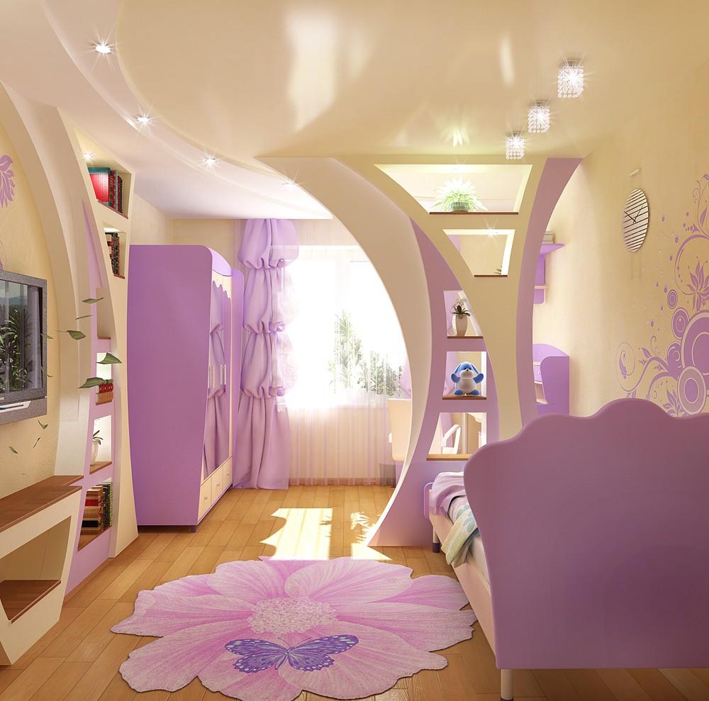 Яркий интерьер современной детской комнаты