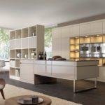 Кухонный гарнитур бежевого цвета