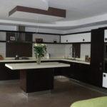Угловая кухня большого размера