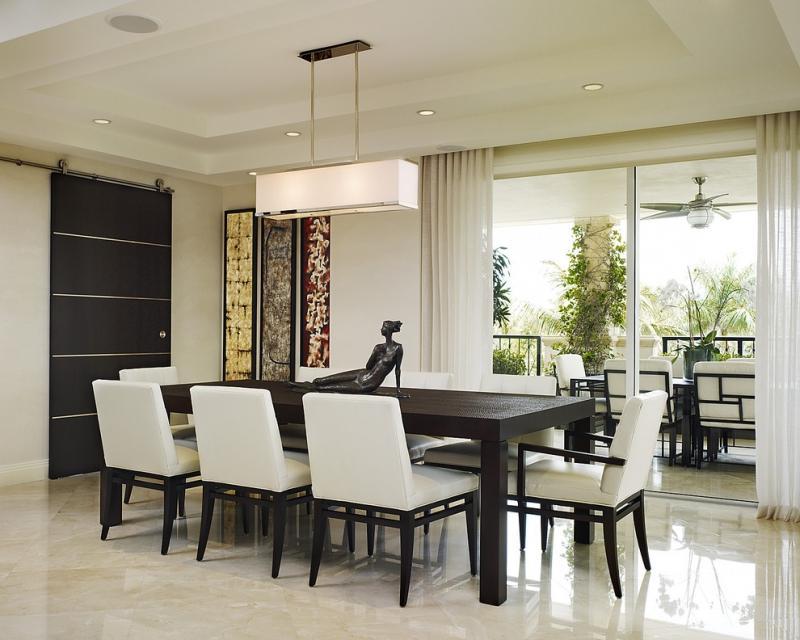 Интерьер кухни-столовой в стиле модерн