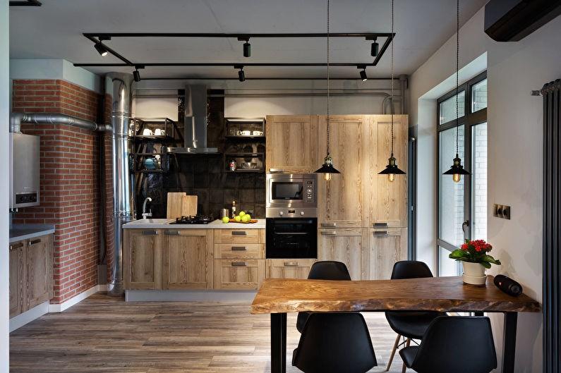 Организация освещения в кухне-столовой