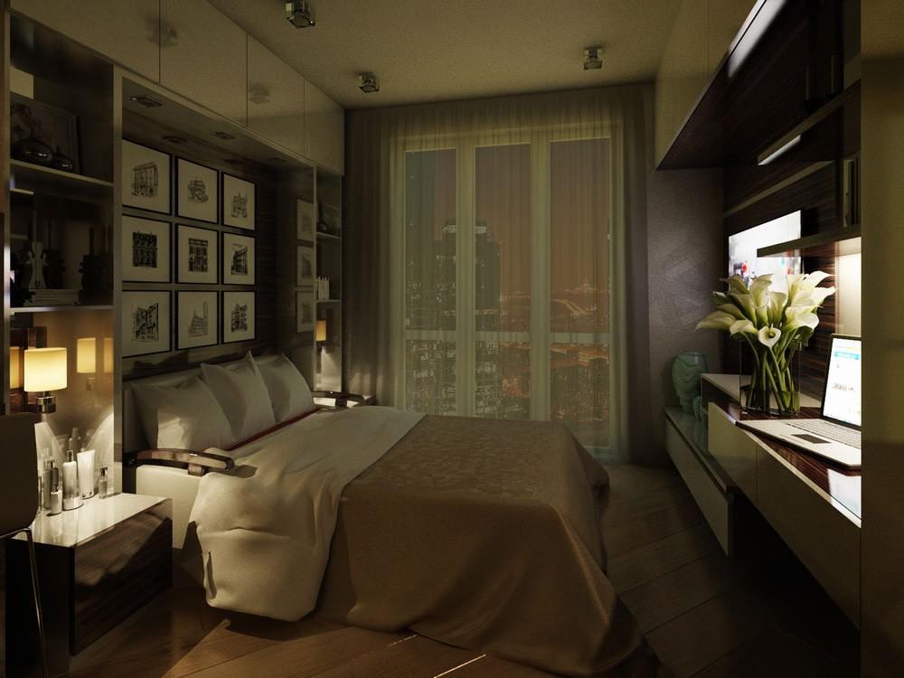 Освещение в гостинке кирпичного дома