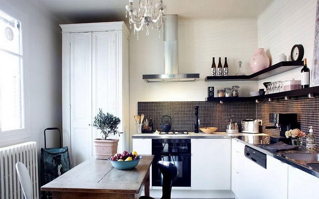 Кухонный гарнитур без подвесных шкафов