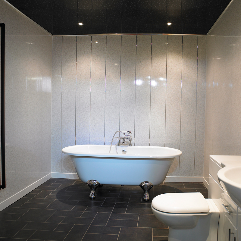 Отделка стен в ванной комнате пластиковыми панелями