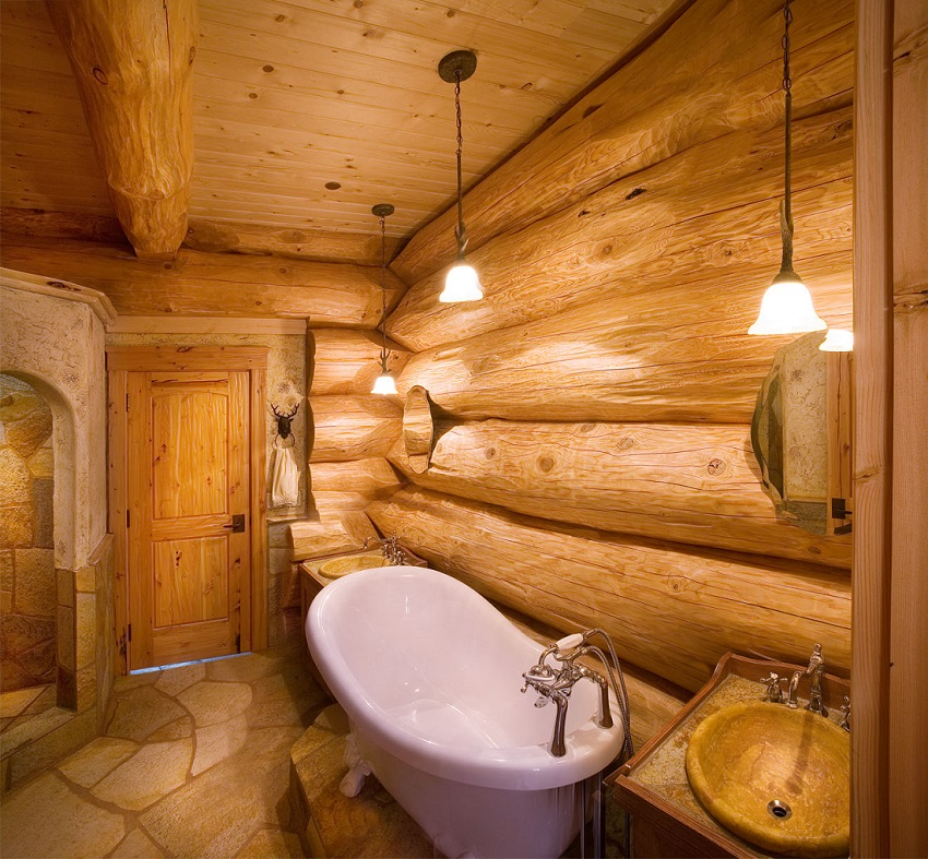 Подвесные светильники в ванной комнате