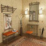 Кованая мебель в дизайне прихожей