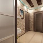 Коричневые двери в прихожей квартиры