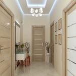 Дизайн коридора с керамическим полом