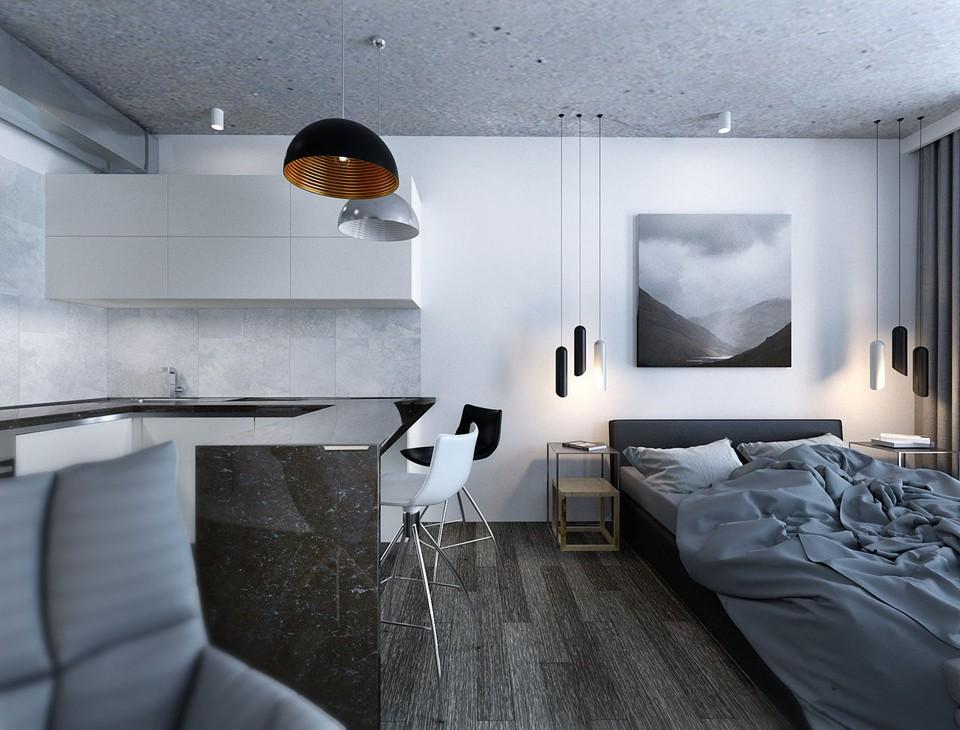 Дизайн общей комнаты в стиле хай тек