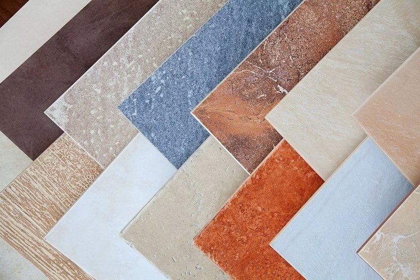 Образцы керамической плитки для пола кухни