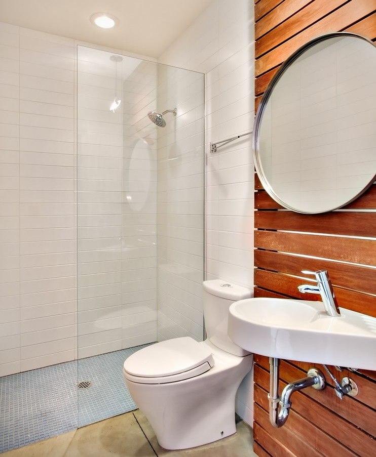 Обустройство душа в совмещенной ванной комнате