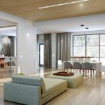 Просторная гостиная в стиле минимализма