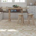 Деревянная мебель на кафельном полу