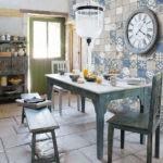 Большие часы на кухне в стиле ретро