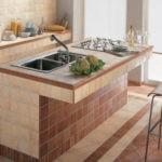 Облицовка плиткой кухонного острова