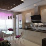 Модная кухня с угловым расположением гарнитура