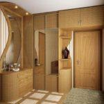 Дизайн прихожей с мебелью из МДФ