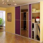 Линейный шкаф с раздвижными дверьми