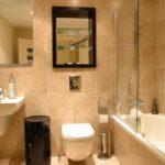 Зеркало над унитазом в ванной комнате