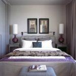 Интерьер спальной комнаты в серых тонах