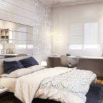 Интерьер спальни с письменным столом