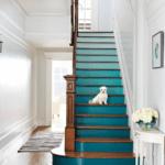 маленькая собачка на ступеньках лестницы