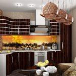 Африканский стиль с использованием мебели венге