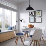 Мягкая скамья вместо подоконника на кухне