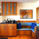 Интерьер зоны отдыха в кухне гостиной