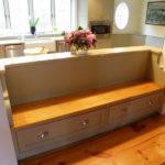 Деревянное сидение кухонной мебели