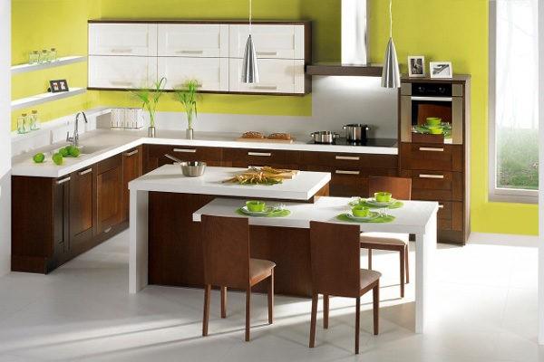 Дополнение мебели венге светлыми элементами