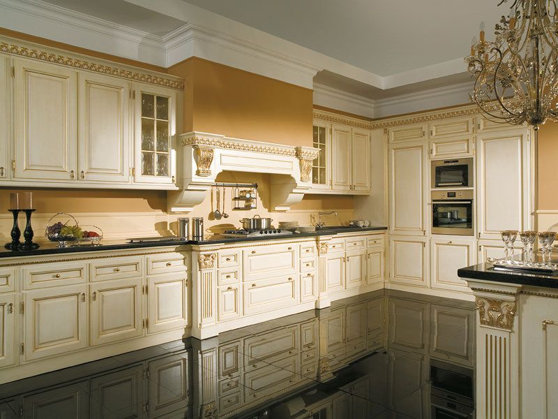 Фасады с филенками на кухонном гарнитуре