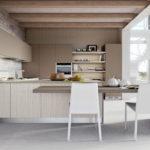 Дизайн современной кухни в бежевых тонах