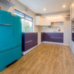 Бирюзовый холодильник в ретро стиле