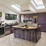 Дизайн кухни с окнами в потолке