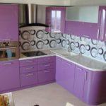 Кухонный фартук с геометрическим принтом