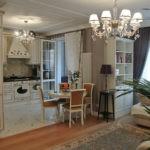 Дизайн кухни-гостиной в стиле современной классики