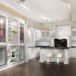 Потолок на кухне в стиле неоклассика