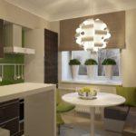 Дизайн маленькой кухни с мягким уголком