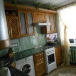 Место для стиральной машины в небольшой кухне