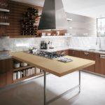 Дизайн кухни с наливным полом