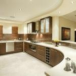 Дизайн кухни с натяжным потолком