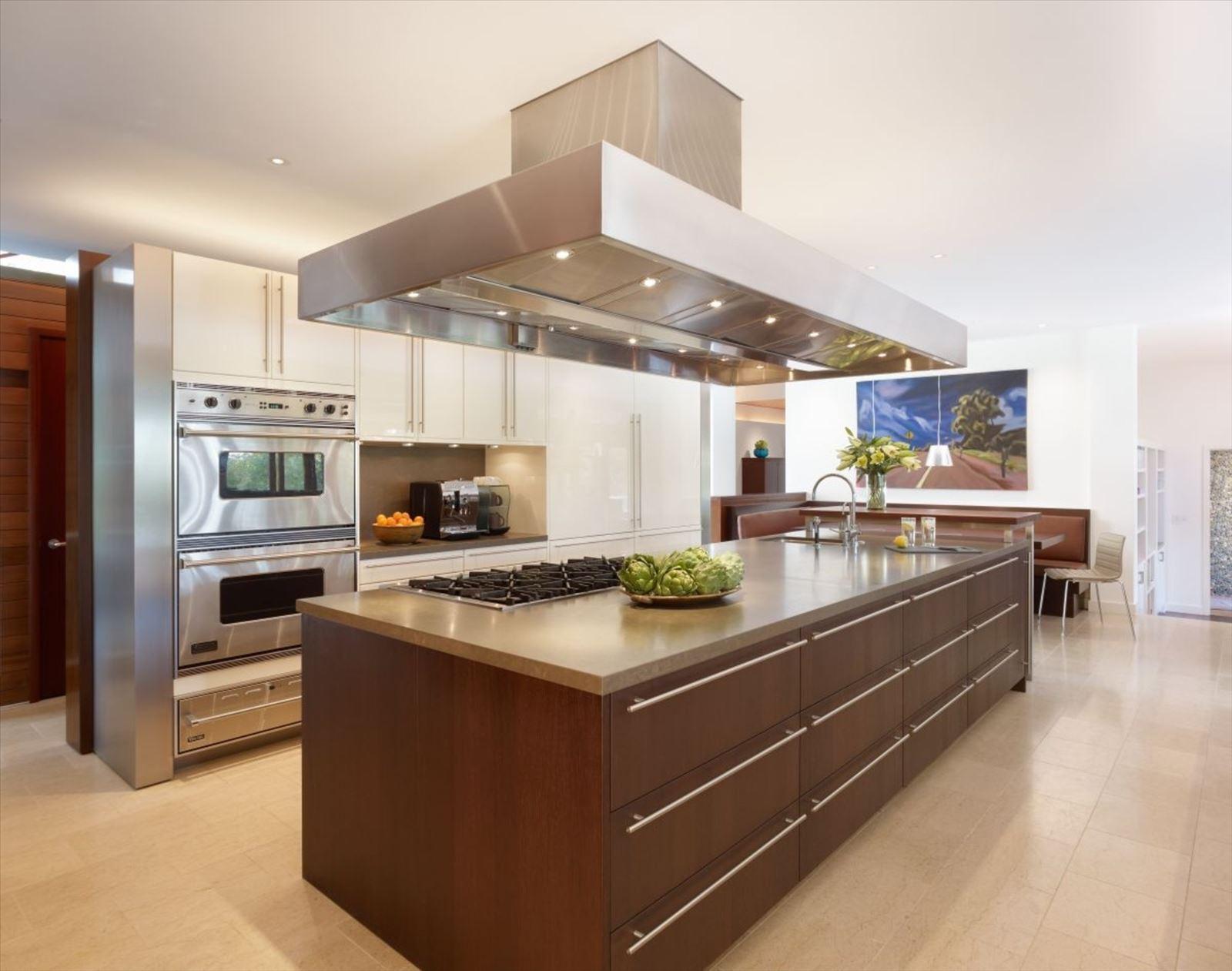 фото кухонных островов типы