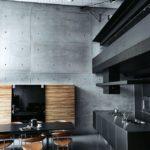 Черные фасады кухонного гарнитура