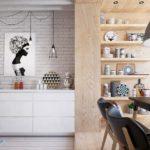 Кухня в стиле лофта с элементами эко стиля