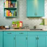 Кухонный гарнитур с хромированными ручками