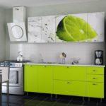 """Использование картинки """"Лайм"""" на фасаде кухне"""
